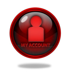 My account circular icon on white background
