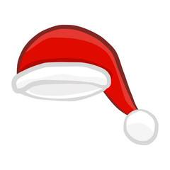 Santa hat isolated illustration