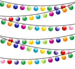 christmas background with  festive garlands