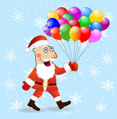 Santa claus with air marbles