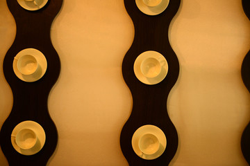 Modern wall design in cafe