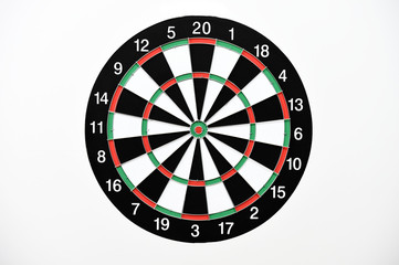 Dartboard isolated on white background.