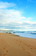 Sky, beach and ocean