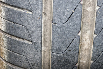 tire close up detail