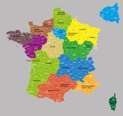 """france 13 régions+départements """"7 calques propres"""""""