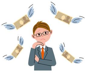 ビジネスマン お金
