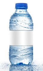Water bottle with blank label Isolated , Water Bottle Mockup