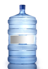 large bottle of water on white background, Water Bottle Mockup