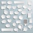 Big Set Paper Communication Bubbles Shadows PiAd - 73507114