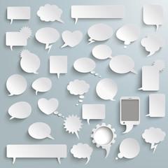 Big Set Paper Communication Bubbles Shadows PiAd