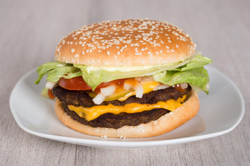 Burger In Plate