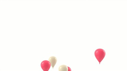 Gold and Pink balloons