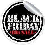 Black friday big sale grunge sticker, vector illustration