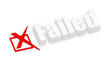 3d Failed Text
