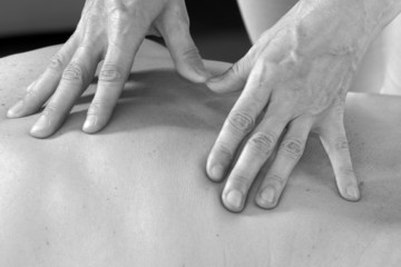 masseur's hands