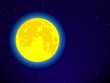 Full moon on night sky