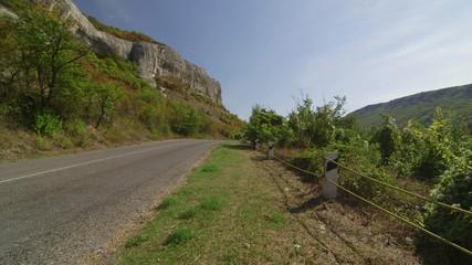 Rocky mountain road in direction Bakhchisarai - Ai-Petri Crimea