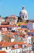 Lisbon, view of Alfam's region and Santa Engrassiya's  church