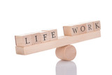 Seesaw Representing Imbalance Between Life And Work poster