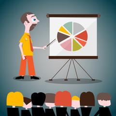 Presentation Vector Illustration with Businessman