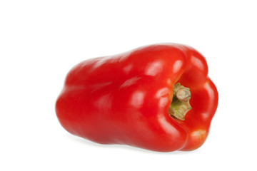Sweet red pepper on a white background,  isolated