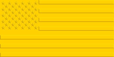 Gold USA flag