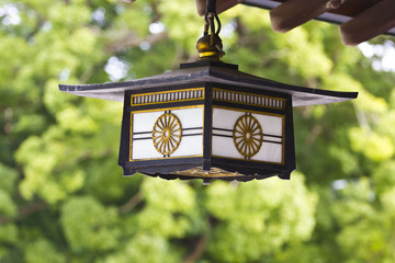 Old japanese lamp