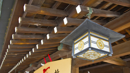 Japanese temple old light