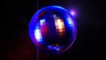disco ball rotating - loop