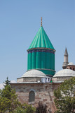 the most famous tower of Mevlana museum in Konya poster