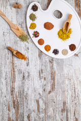 spices on a palette pictorial