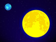 Moon and Earth