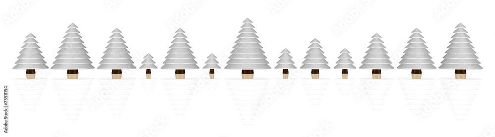 schneebedeckte kleine b umchen wall sticker wall stickers. Black Bedroom Furniture Sets. Home Design Ideas