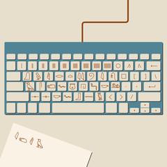 Egyptian Hieroglyphics Keyboard