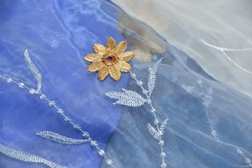 embroidery of flower
