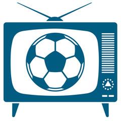 Soccerball in retro TV