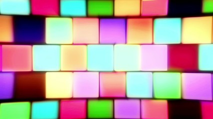 Colorful Block Wall Lights Flashing