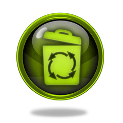 recycle circular icon on white background