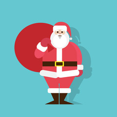 Santa Claus Cartoon flat icon design christmas