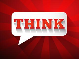 THINK Message bubble, promotional background, presentation