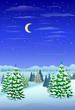 winter forest landscape christmas trees woods - 73512975