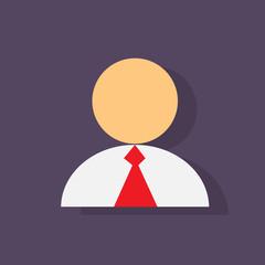 person profile icon flat design vector