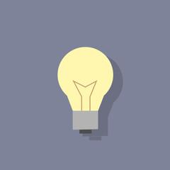 lamp idea icon flat design vector