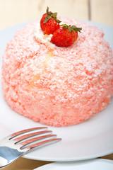 fresh strawberry and whipped cream dessert
