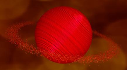 reddish gigantic planet