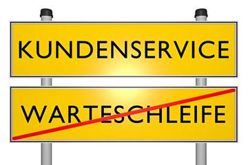 Kundenservice vs Warteschlange - König Kunde