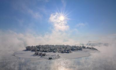 sland in the city of Irkutsk on the Angara River
