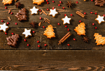 Texture with Christmas biscuits
