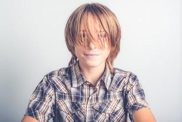 long hair little boy