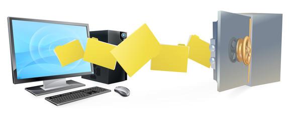 Computer safe secure transfer backup